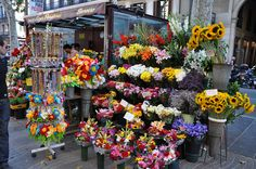 Flowers in Barcelona