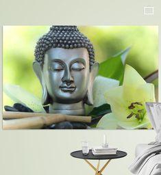 Entspannung und Ruhe, hell grün und warme Bambus Farben kombiniert mit weißer Lilie und frischen Blättern. Ein Bild was einen zur Ruhe kommen lässt in einer turbulenten Welt.