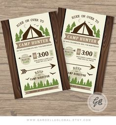 Hey, I found this really awesome Etsy listing at https://www.etsy.com/listing/261950321/camping-invitation-camping-invite