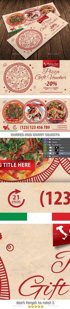 Italian Restaurant Gift Voucher Template 40