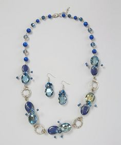 Look at this #zulilyfind! Lapis Star Struck Necklace & Earrings by LOLO by New Dimensions #zulilyfinds