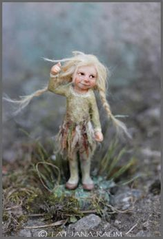 Tiny Bran, a wood elf  ~ by Tatiana Raum