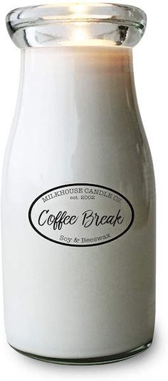 This candle from Milkhouse Candle Co isn't just another coffee scented candle. It comes in a unique milk bottle. It smells like freshly roasted and brewed coffee blended with sweet cream. The candle is 100% paraffin free and looks great wherever you put it.