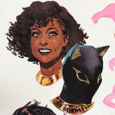 """kevinwada: """"Playing around with my Egyptian based Catwoman / Selina Kyle design. """" DC Comics"""
