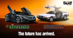 The Future has arrived. BMW fly doors #BTTFDay - SIXT