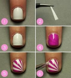 Love these colors - and the nail design reminds me of a lollipop! Looks doable.