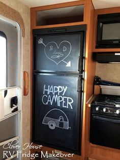 Paint Your Ugly RV Fridge With Chalkboard Paint
