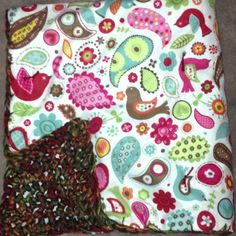 Crochet flannel baby blanket