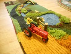 play rugs and play mats   Finished! Wool Farm Play Mat