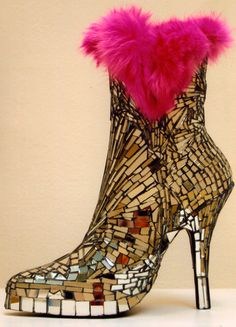 Mosaic Mirrored Boot by Candace Bahouth