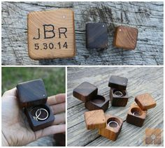 Mini Ring Box Rustic Wood Personalized Ring par rusticcraftdesign, $20.00