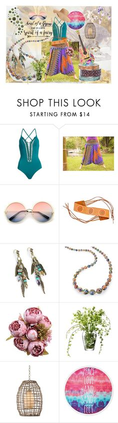 Peace Love and sandy Feet  Amonchai Harem Pants www.amonchai.etsy.com  by amonchai on Polyvore featuring Billabong, Sweet Romance, Old Navy, ZeroUV and LSA International