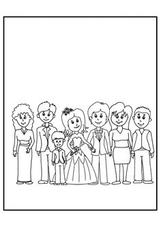 ausmalbilder zur hochzeit | coloring 2 | wedding illustration, wedding with kids und kids