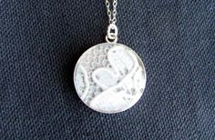 """Make (or order) a necklace made with a bit of lace from your wedding dress. What a lovely keepsake to give a daughter or daughter-in-law for """"something old"""" on their wedding day."""