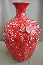 Vases by Anna  Tulips Matador Red  Color by Oregon4ever on Etsy, $275.00