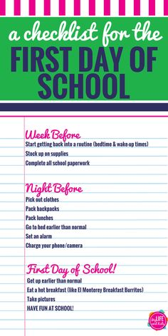 Help your kids have the best first day of school ever with these simple tips and activities to keep your morning on track. From finding the perfect outfit to tips for pictures, what to eat for breakfast and even free sign printables, these back to school tips for parents will make your first day great with @elmonterey. Plus a free checklist to keep you organized.