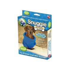 Snuggie for Dogs Blue Colored Fleece Blanket Coat with Sleeves - Small - http://www.thepuppy.org/snuggie-for-dogs-blue-colored-fleece-blanket-coat-with-sleeves-small-2/
