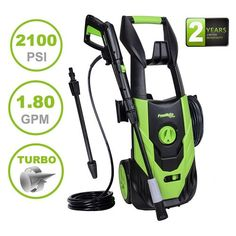 PowRyte Elite 2100 PSI GPM Electric Pressure Washer, Electric Power Washer with 5 Quick-Connect Spray Tips and Onboard Detergent Tank (Power Wash Machine, Presser Cleaner, Car Washer) Pressure Washer Tips, Pressure Washing, Clean Washer, Home Tools, Electric Power, Vans, Pumps, Washers, Dekoration