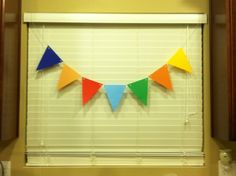 DIY pennant banner. I like this way better :)