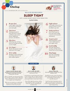 """SLEEP TIGHT: 10 tips for a good night's rest. """"Like"""" this pin if you need more sleep! #webmdmag"""