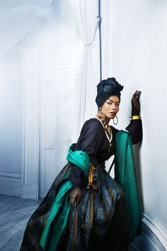 Angela Bassett as the real-life 19th century voodoo priestess, Marie Laveau. American Horror Story: Coven