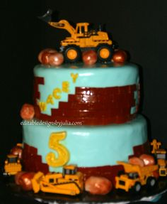 Tonka Truck cake  Editable Designs by Julia