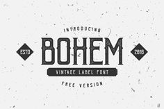 Bohem Press – Free Font from DealJumbo!