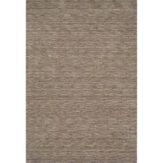 "Tonal Solid 100% Wool Accent Rug - Granite (3'6""x5'6""), Grey"