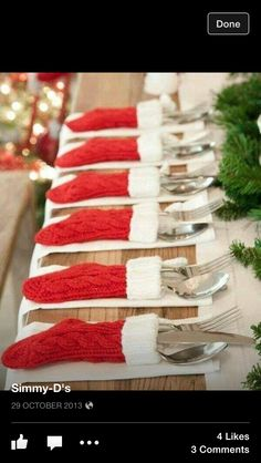 Christmas Stocking for cutlery!