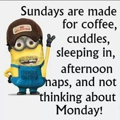 Sundays are made for coffee, cuddles, sleeping in, afternoon naps, and not thinking about Monday!