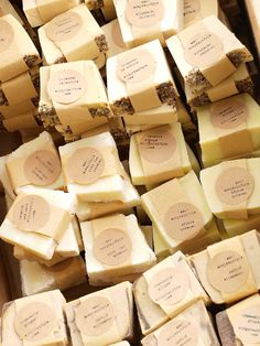 Rustic Farm Fresh Soap- 180 Wedding Favors. $320.00, via Etsy.