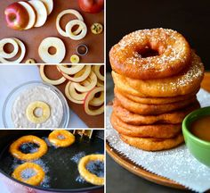 You won& be able to resist a serving of these Apple Fritter Rings with Caramel Sauce and the whole family will love them! This is such a popular and delicious treat. You absolutely need to make them! Bangla Recipe, Yummy Treats, Yummy Food, Sweet Treats, Healthy Treats, Tasty, Apple Fritters, Apple Recipes, Fun Recipes