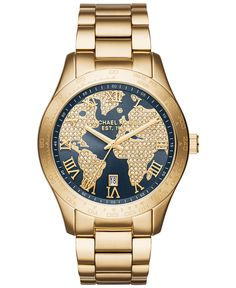 Michael Kors Women's Layton Gold-Tone Stainless Steel Bracelet Watch 44mm MK6243 - Watches - Jewelry & Watches - Macy's