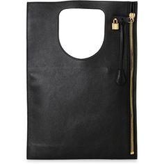 Tom Ford Black Alix Zip Shoulder Bag ($1,200) ❤ liked on Polyvore featuring bags, handbags, shoulder bags, black, zipper shoulder bag, genuine leather purse, tom ford handbags, zip shoulder bag and leather purses