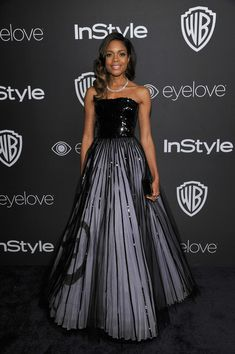 Naomie Harris in Armani Privé - The Most Gorgeous After Party Looks from the 2017 Golden Globes - Photos
