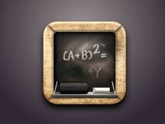 Blackboard Icon created with Sketch designed by Isabel Aracama. the global community for designers and creative professionals. Mobile App Icon, Ios App Icon, Mobile Ui, Hidden Object Games, Hidden Objects, 3d Icons, Game Ui, Blackboards, Sketch Design
