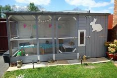 Fab outdoor rabbit enclosure #ahutchisnotenough