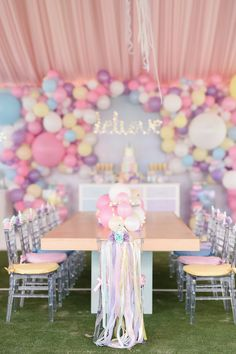 Dreaming of a perfectly-styled unicorn birthday party? Kara from Kara's Party Ideas delivers, once again! Don't miss the inspiration inside the party! 21 Party, Birthday Party Celebration, Unicorn Birthday Parties, First Birthday Parties, Birthday Party Decorations, First Birthdays, Unicorn Party Decor, 1st Birthday Party Ideas For Girls, Pastel Party Decorations