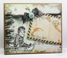 "Your Memories: And Finally, Introducing... Do Distressed!  Christmas card  Come and check out the latest and greatest stamp set from Flourishes!  This ""SO DISTRESSED!"" stamp set is perfect for all those fabulous projects... from card making to scrapbooking and mixed media projects!"