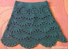 crochet skirt or dress, and stitch schemes... (in Russian!)