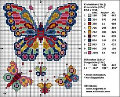 "Butterfly cross stitch pattern free ~ **I have an idea how to incorporate this for ""Plastic Canvas**"