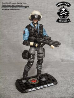 Rebel Fleet Trooper - Special forces (Star Wars) custom action figure from the Star Wars series, created by Trooper-BR. Star Wars Action Figures, Custom Action Figures, Star Wars Jedi, Star Wars Rebels, Gi Joe, Images Star Wars, Daily Star, Star Wars Toys, Sci Fi Movies