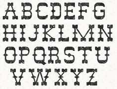 Printable Alphabet Western Font template pattern in pdf for immediate download.    What can be easier, straight forward and hassle free. No longer venting your frustration trying to draw your own alphabet template, let alone wasting paper.   Available in sizes: 1, 2, 3, 4, 5 and 6 inches. The dimension of the alphabet template is measured over the height of the capital letters. Therefore a 5 inch alphabet template, means that the capital letters measure 5 inches from bottom to top. The…