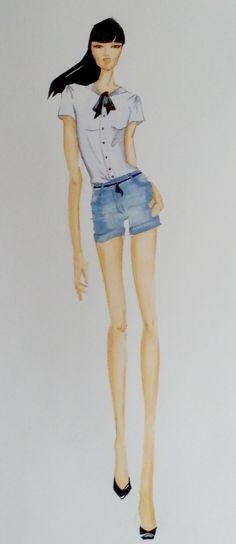 """""""Lo"""" fashion illustration by #DaniellaGallistl"""