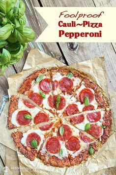 Foolproof Cauli-Pizza Pepperoni