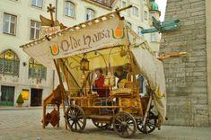 Medieval market stall inTallinn Estonia