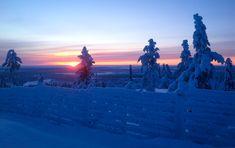 Sunrise in Levi, Finland, Lapland