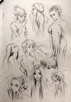 Hair Sketches -