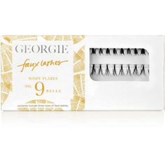 Georgie Beauty Georgie Belle Faux Lashes ($19) ❤ liked on Polyvore