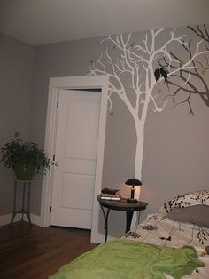 tree painted on wall